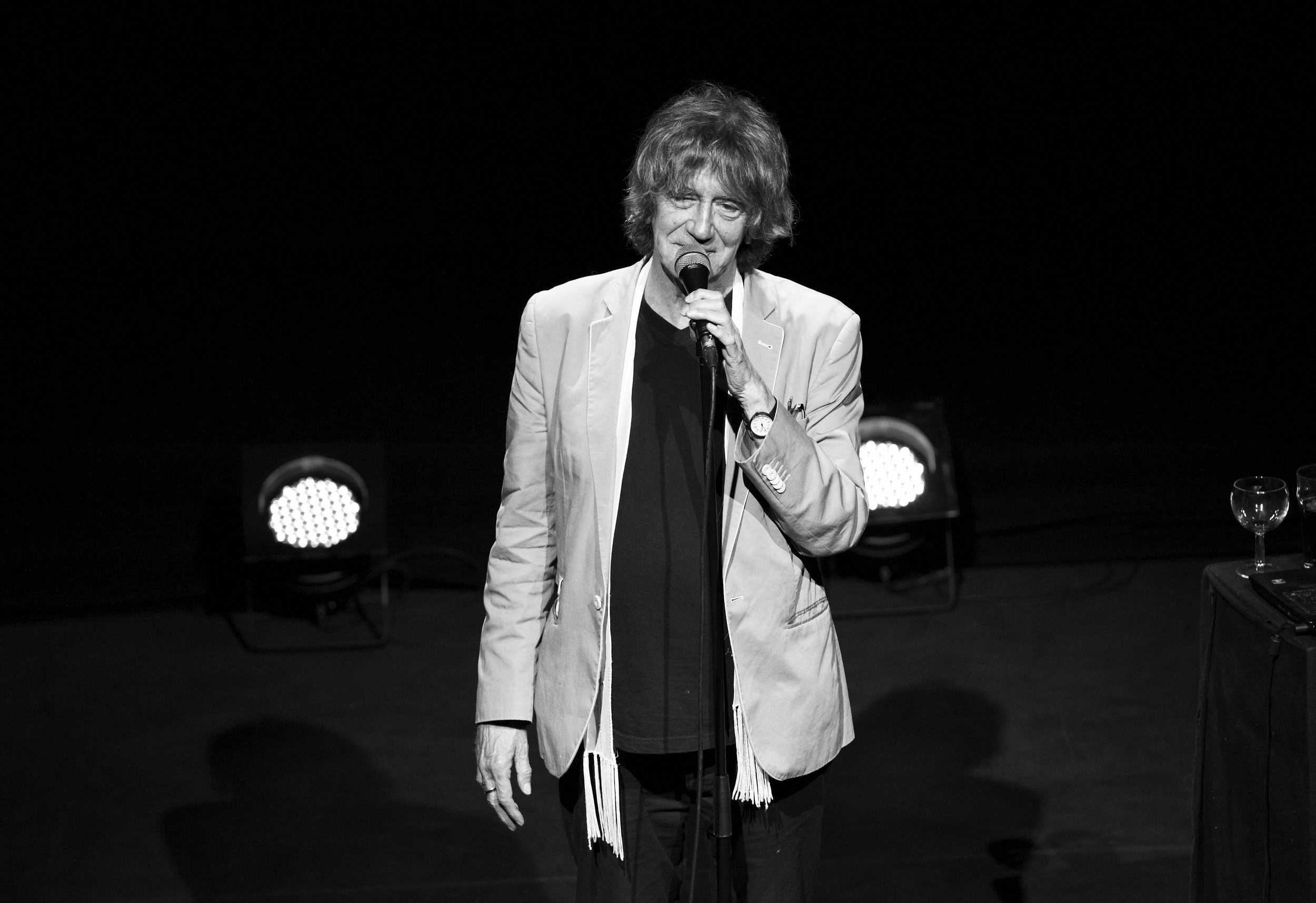 Howard Marks on stage at the Bloomsbury Theatre 2013