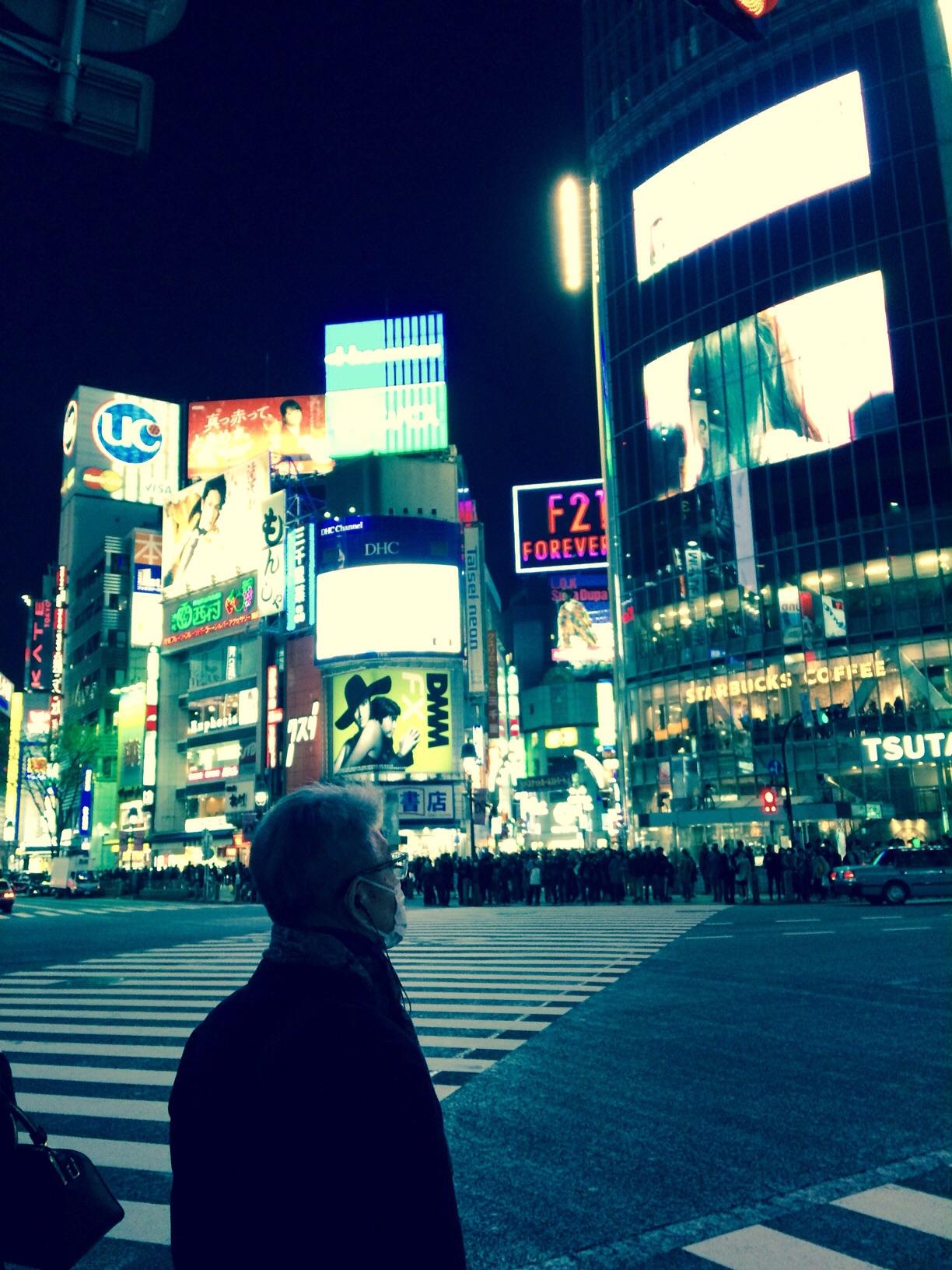 Preparing to cross: Shibuya