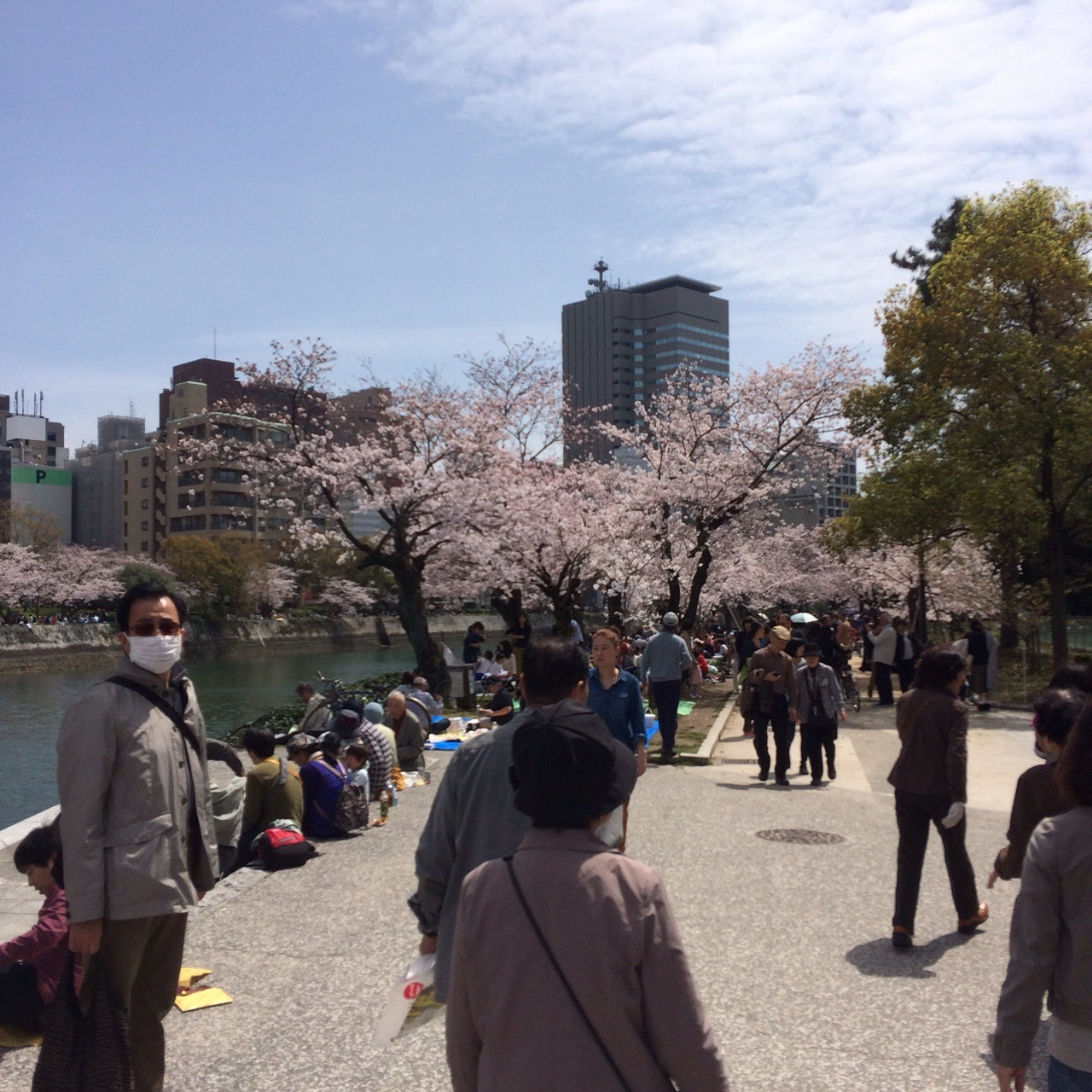 Can't get enough of the Hanami, or people in facemasks!