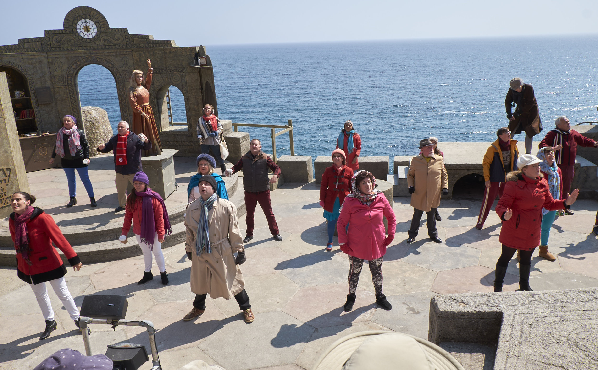 The Clockmaker's Daughter at the Minack. Great setting for a theatre.