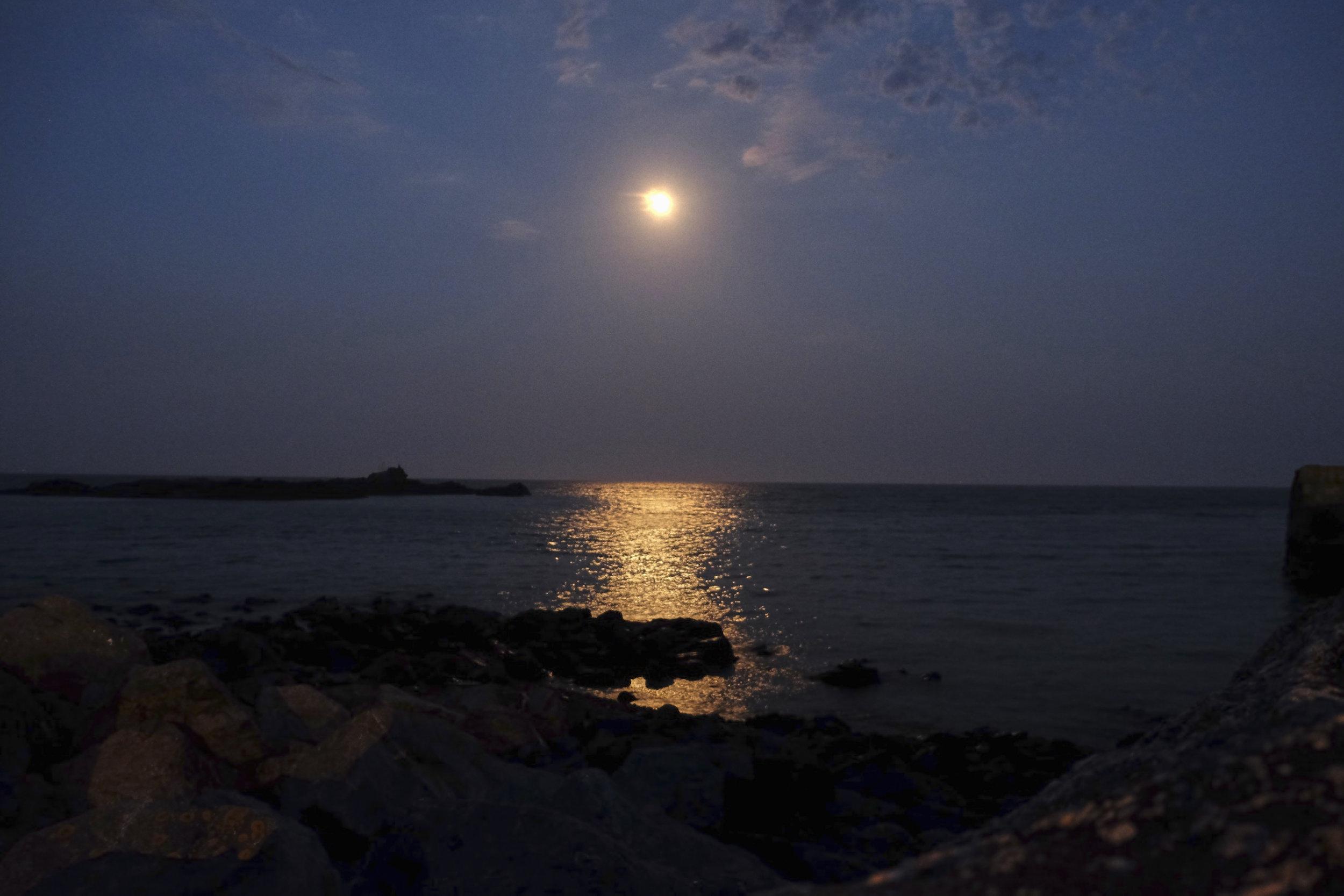 Moon over Mousehole