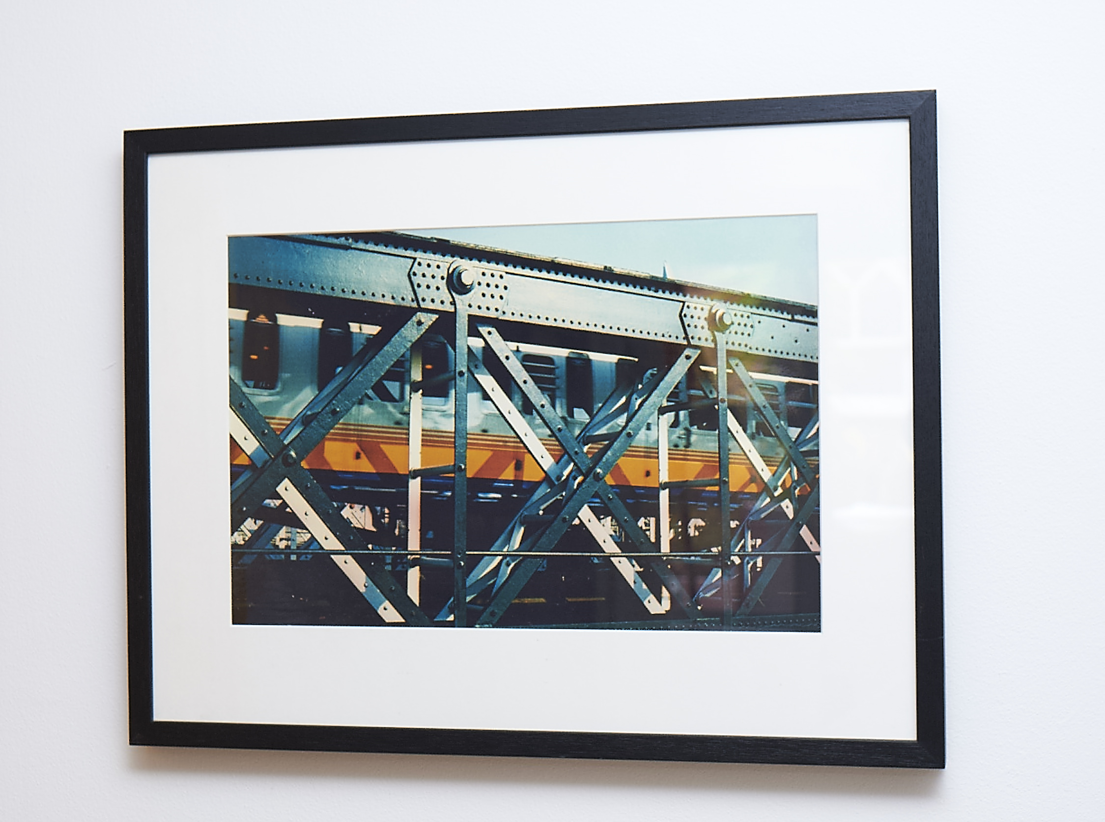 """Wheels of Steel   Framed in a black deep-edged frame. Amazing richness to this shot!   Cross-processed image on Lustre photographic paper.    Frame Size approx. 24 x 19""""    COST £55.00"""