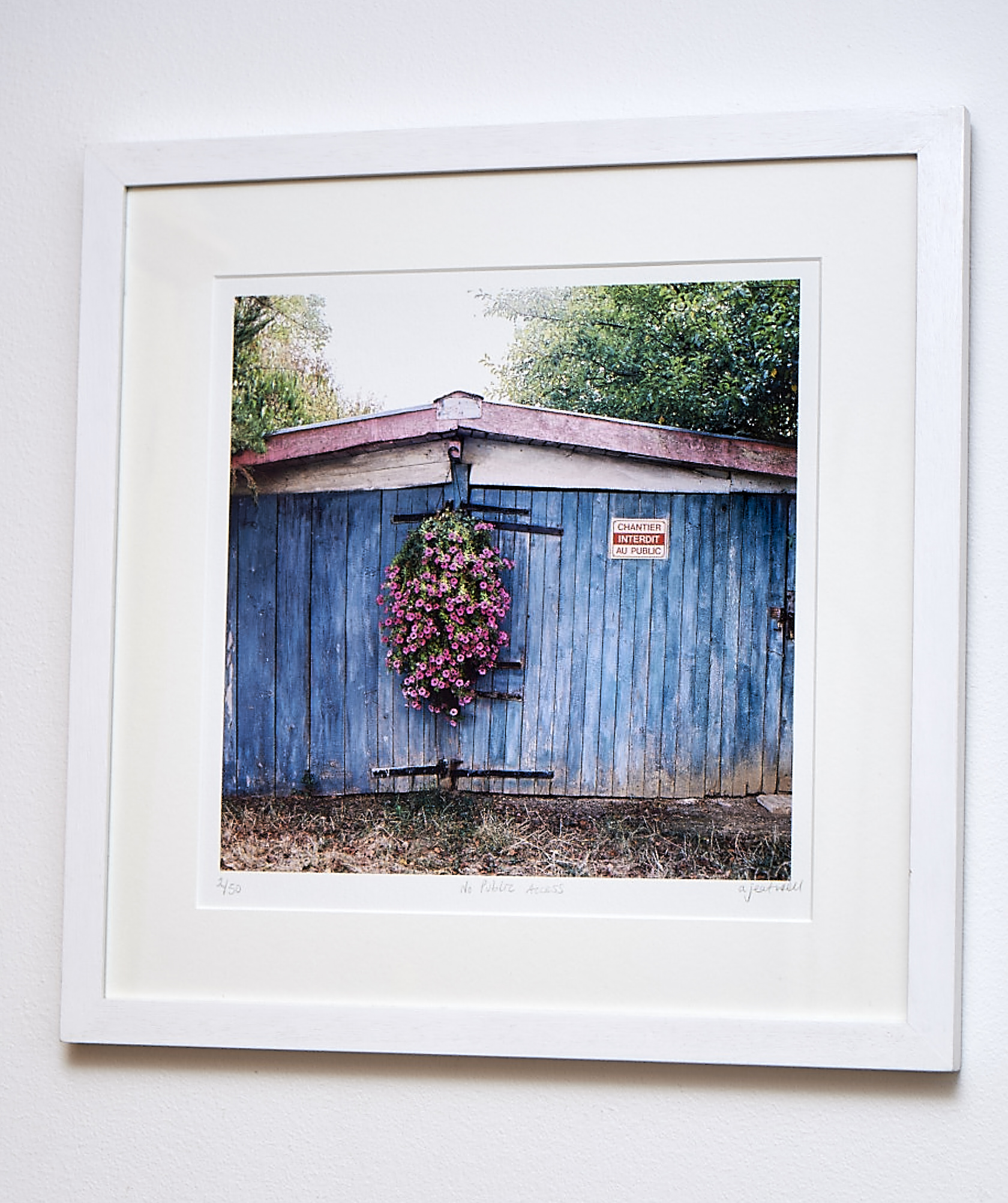 """No Public Access *SOLD*   A nice square print from a Hasselblad I laid my hands on! Somewhere in a French Village.  Traditional Colour Print.   Frame Size approx. 17 x 17""""    COST £49.00 *SOLD*"""