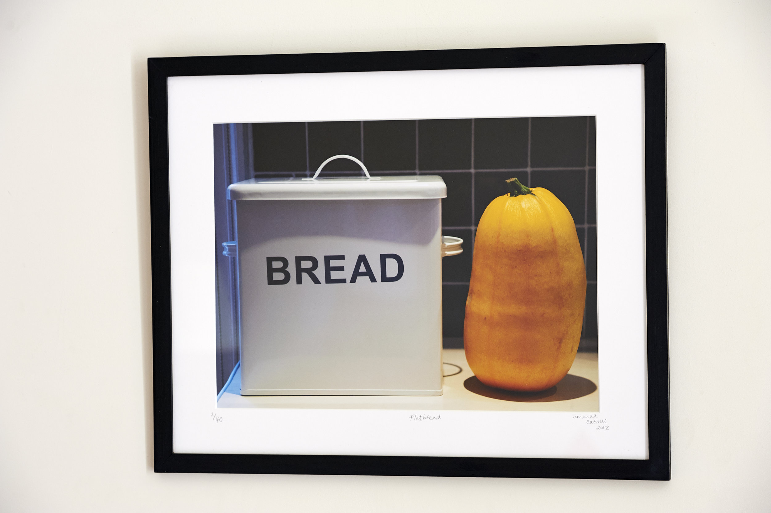 """Flatbread **SOLD**  This is a popular image. I love it!  Framed in a Farrow & Ball 'Offblack' painted frame. Slick.  Digital Image printed on lustre photographic Paper.   Frame Size approx. 21 x 17""""    COST £45.00  **SOLD**"""