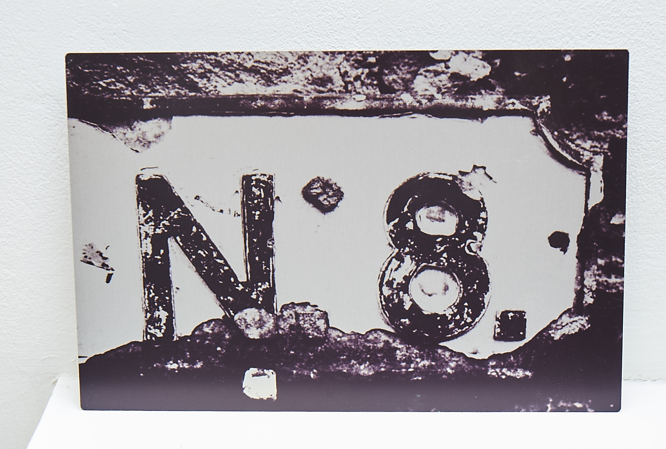 """N8  **SOLD**  A study of an old road sign, printed onto aluminium.   Finished Size approx. 12 x 8""""    COST £35.00  **SOLD**"""