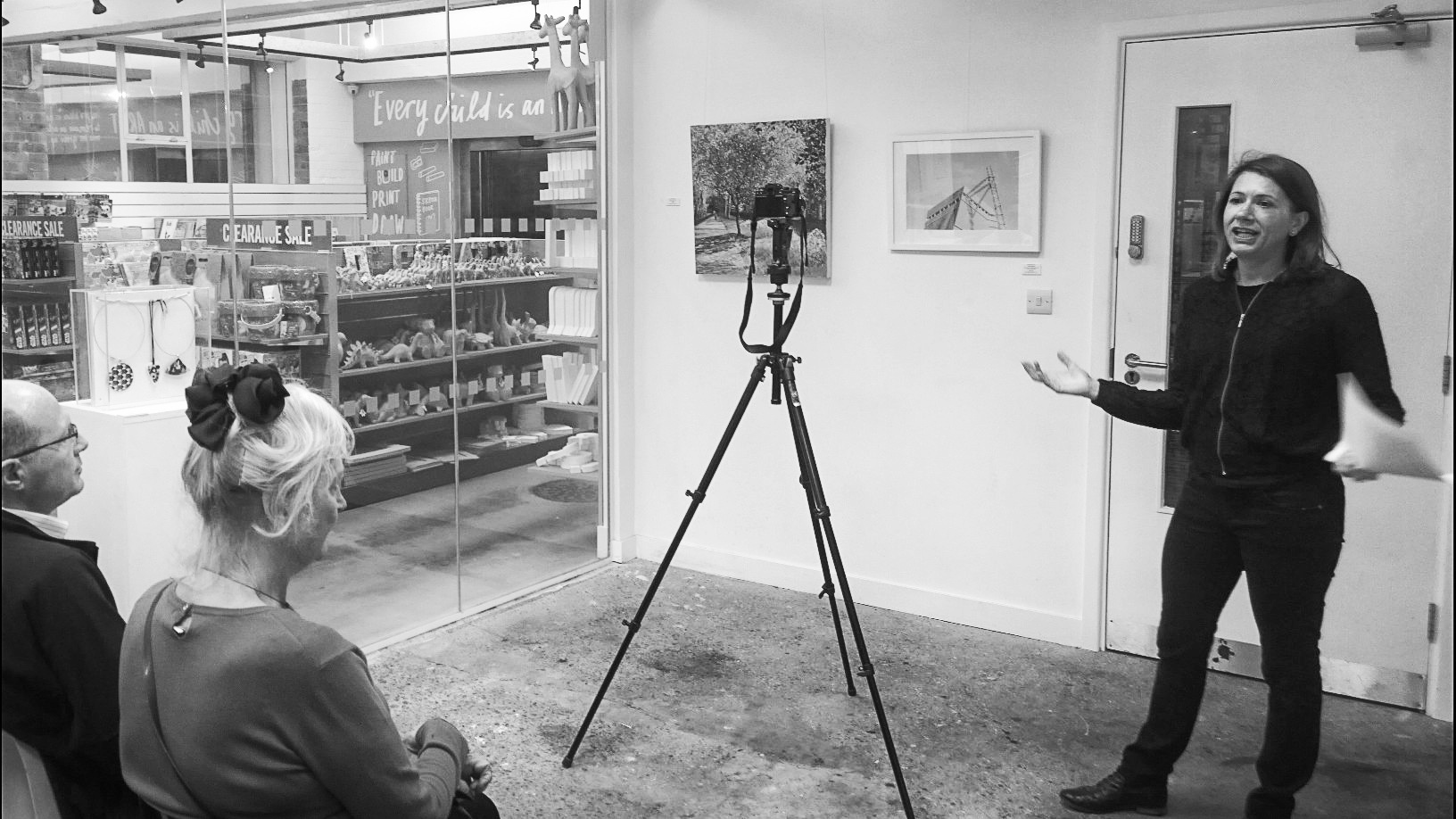 Giving a talk at Cass Art's flagship store in Islington: 'How to photograph your artwork'