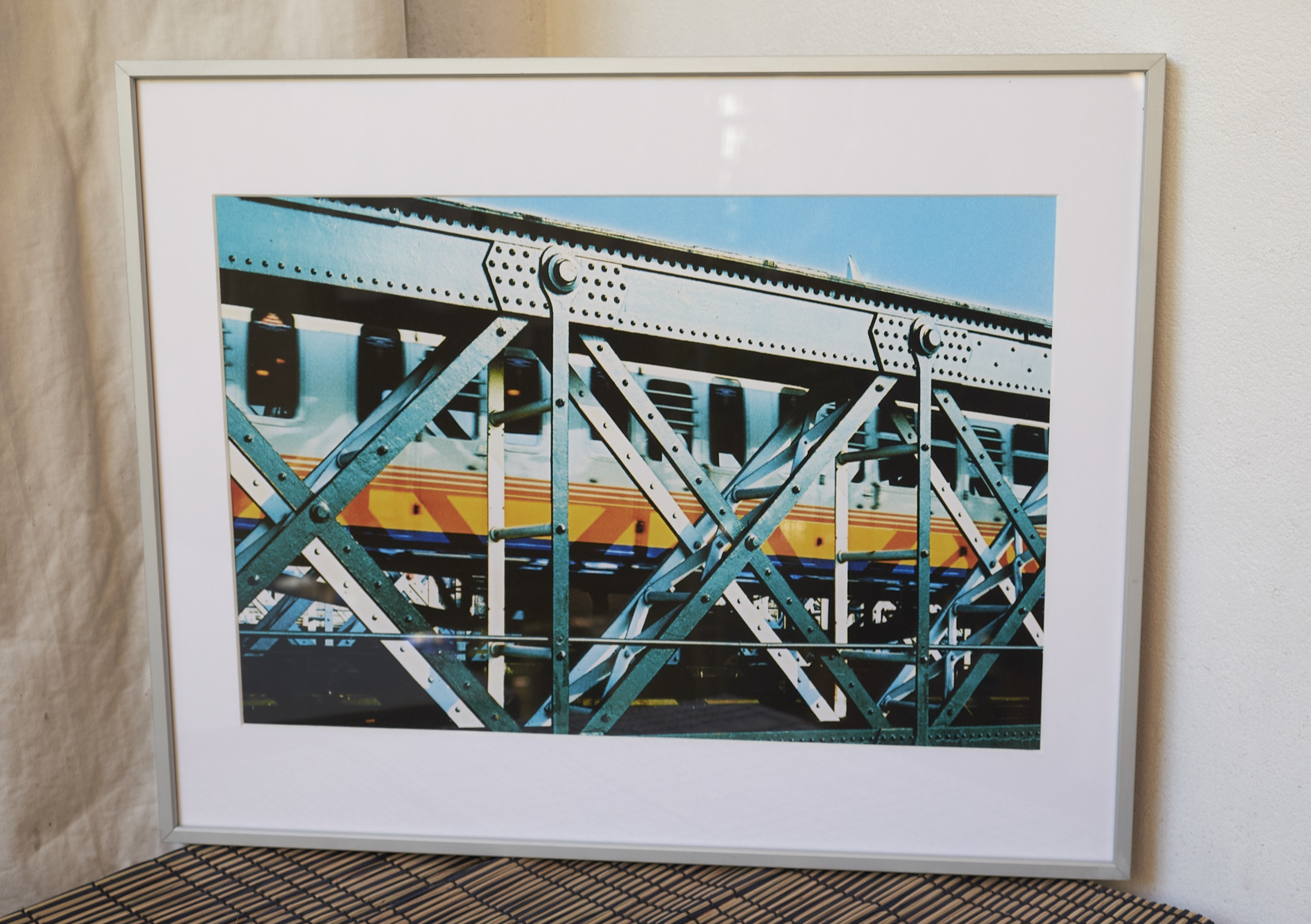 """Wheels of Steel *SOLD*   Framed in a brushed aluminium. Amazing richness to this shot!   Cross-processed image on Lustre photographic paper.    Frame Size approx. 20 x 16""""    COST £44.00 *SOLD*"""