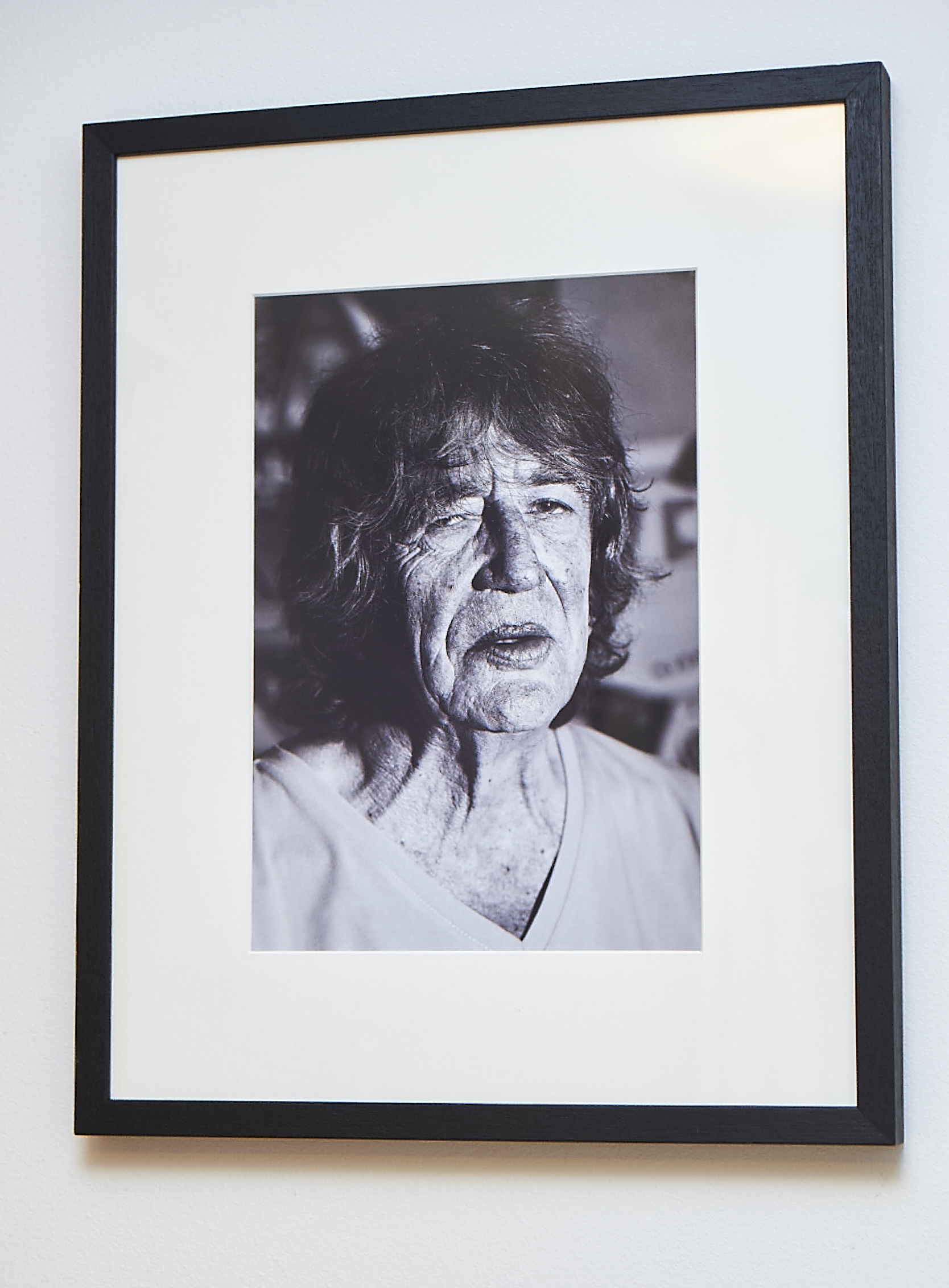 """Howard Marks, legend to many.   It turned out we shared the same birthday, and he loves a curry. That may be where the similarities end!  Black & White photographic print.   Frame Size approx. 21.5 x 17""""    COST £50.00"""