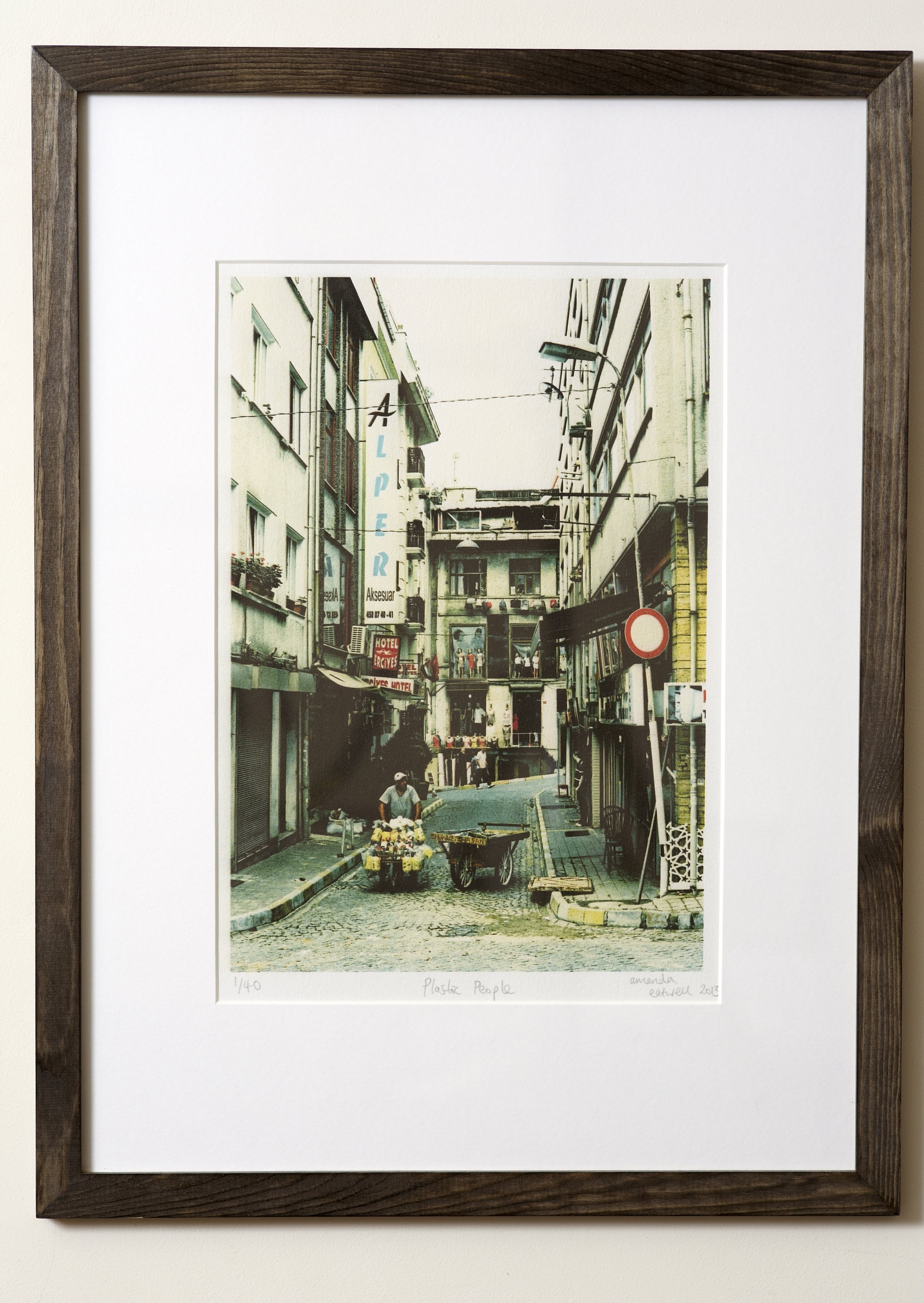 """Plastic People   Shot on a quick scoot around Istanbul on my last day in this great city. One of my favourites!   Cross-processed image on Hahnemuhle German Etching Paper.    Frame Size approx 20 x 15""""    COST £40.00"""