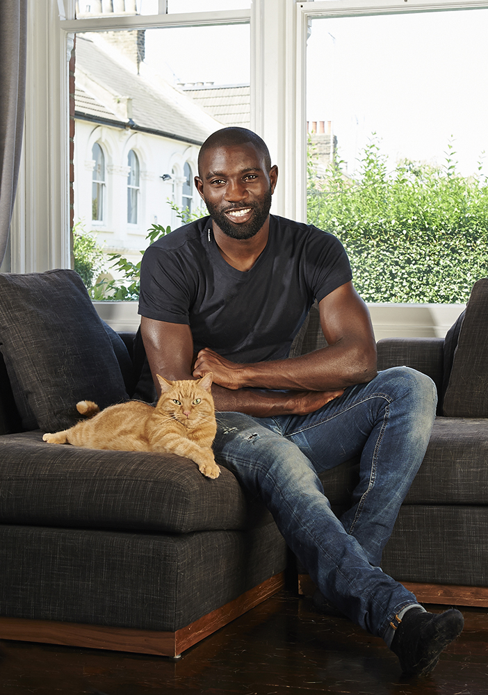 I photographed Jabo Ibehre at his home, whilst taking time out from his intense professional football practice. Despite the final image looking relaxed, there was a lot of patience required to get his precious feline to behave accordingly! Thankfully Jabo embraced the whole experience and kept me busy answering questions throughout!