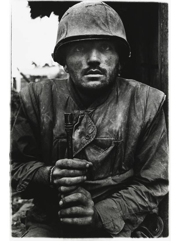 Don McCullin ©  A shell-shocked US Marine, Hue, Vietnam, 1968