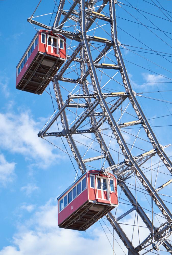 Vintage Ferris Wheel at Prater Park