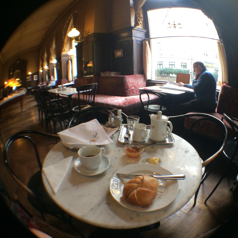 Remnants of brunch, Cafe Sperl