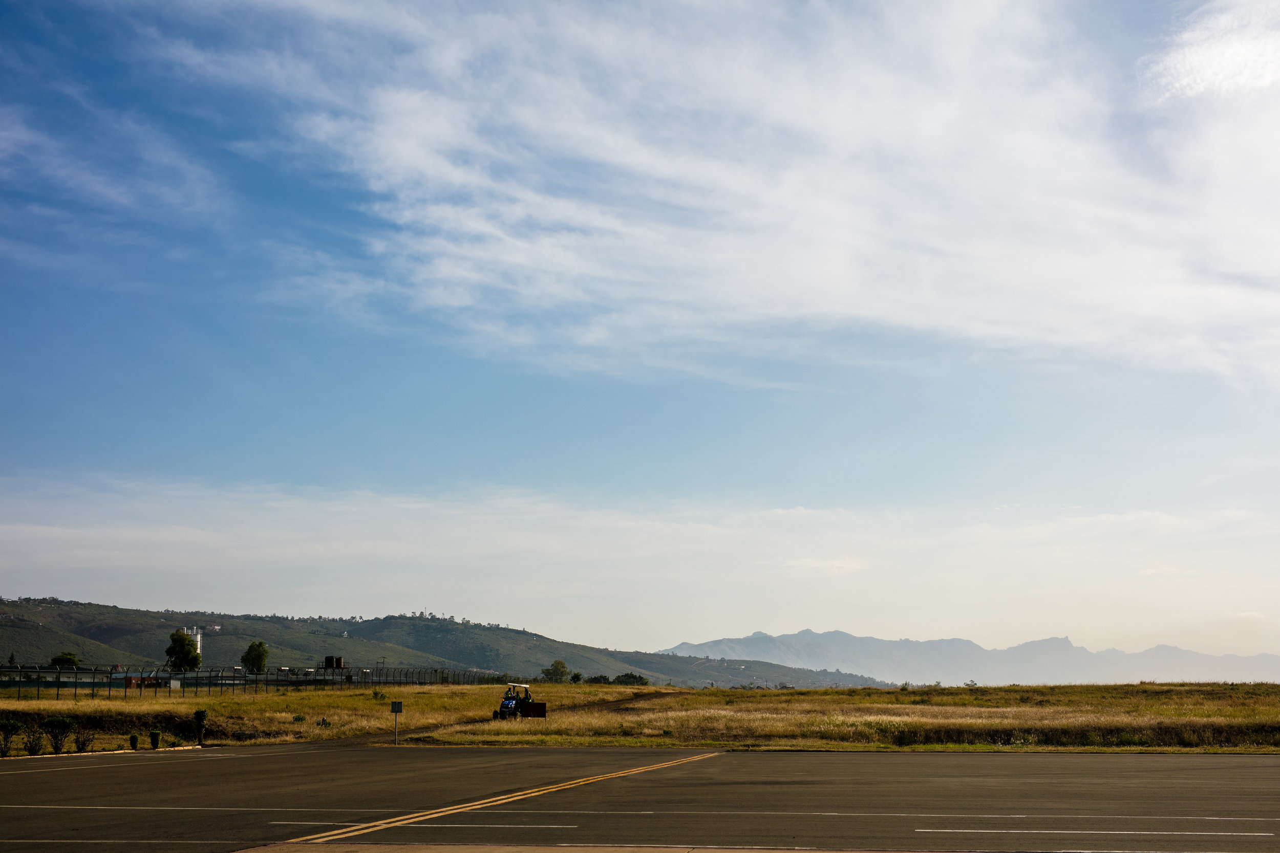 View from the airport