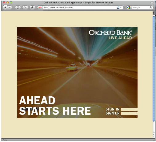 Orchard Bank Home Page