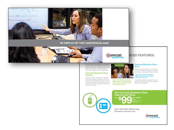 Mailer for Comcast Business Services
