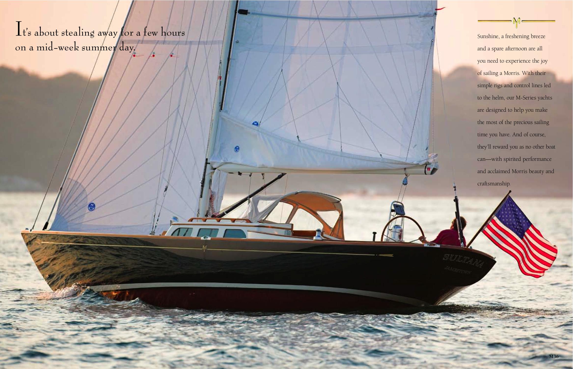 Morris Yachts Brochure Inside Spread