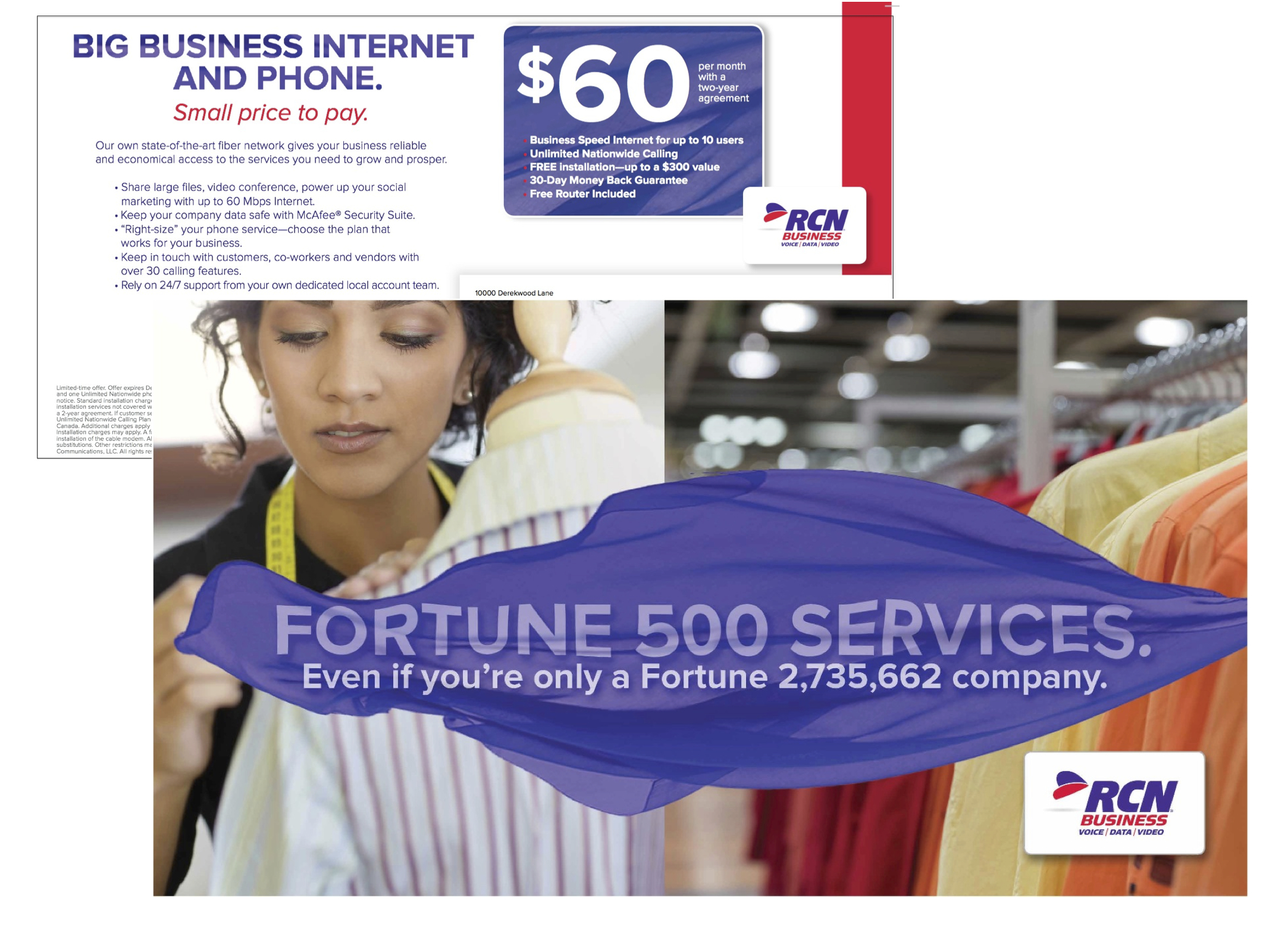 Mailer for RCN Small Business Services