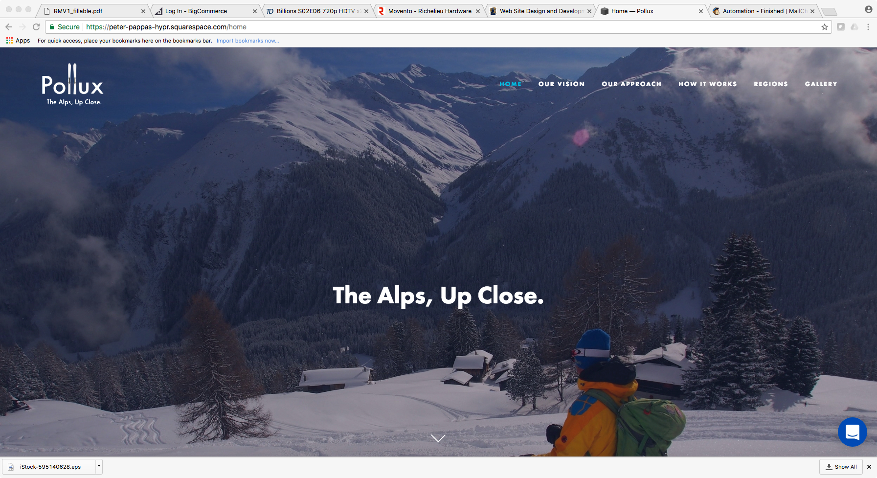 Pollux Mountain Guides - Pollux Mountain Guides works with a discerning clientele to deliver highly customized ski journeys in the Alps. Specializing in off-piste skiing and snowboarding, they take clients on outdoor and cultural experiences of a lifetime. CHECK OUT THE CAMPAIGN
