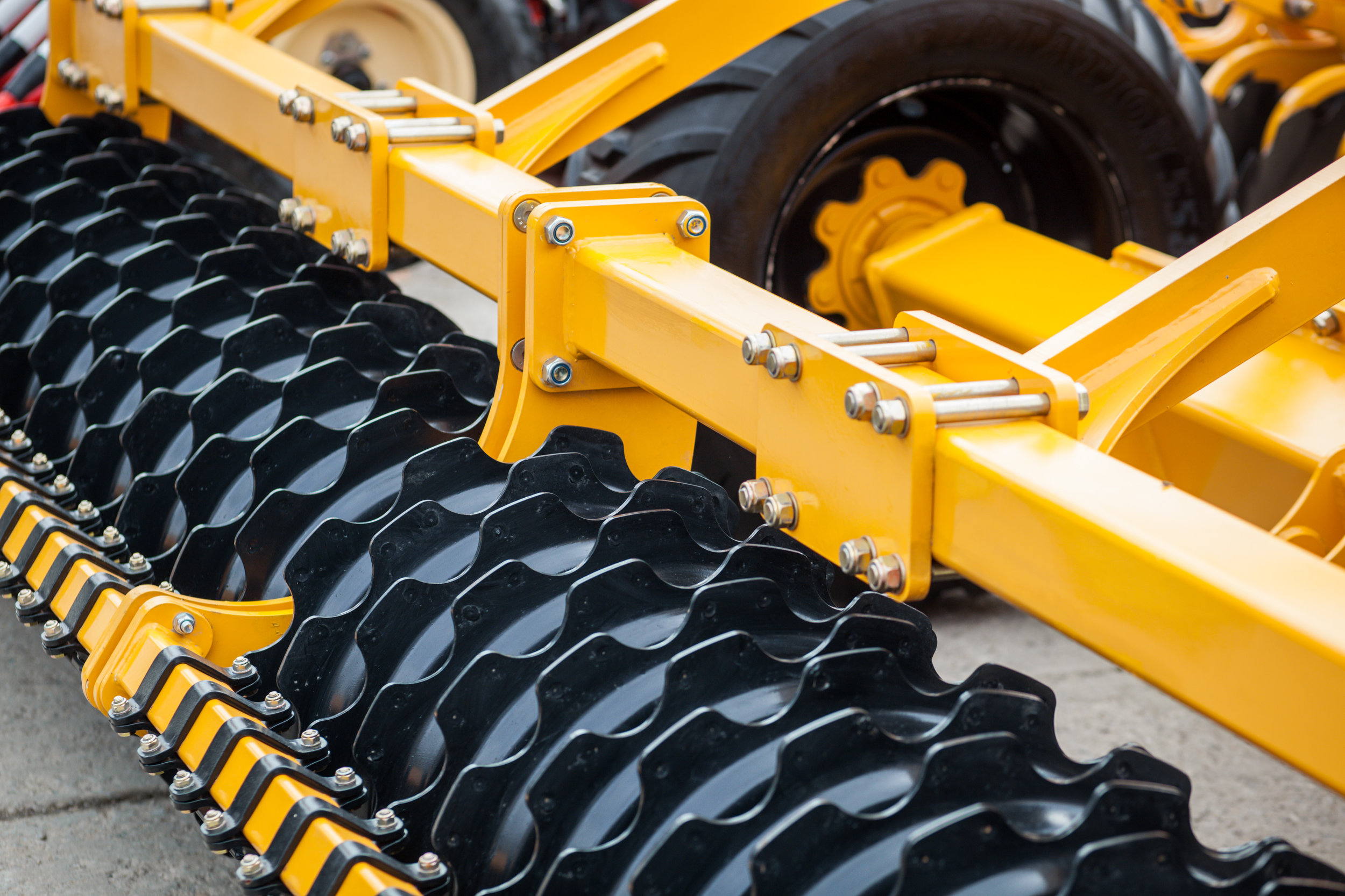 Heavy farming equipment