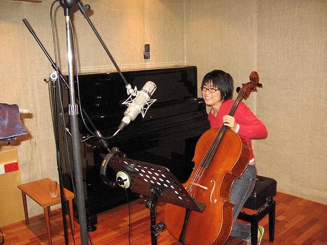 Recording in the studio with Burkhard Dallwitz