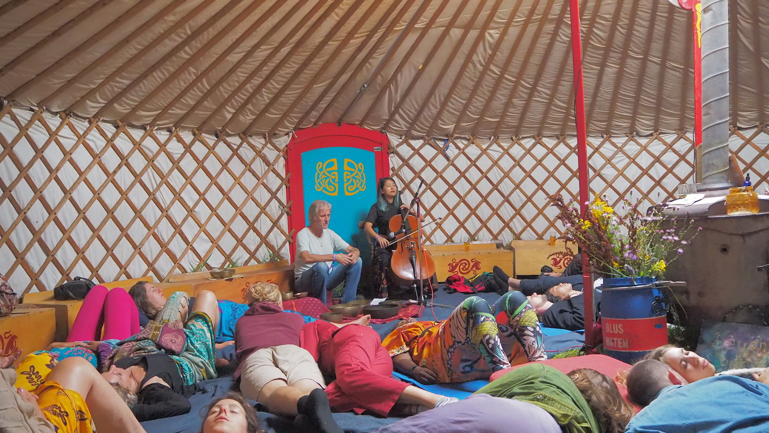 Cello Meditation in a Yurt at Landjuweel Festival, Ruigoord