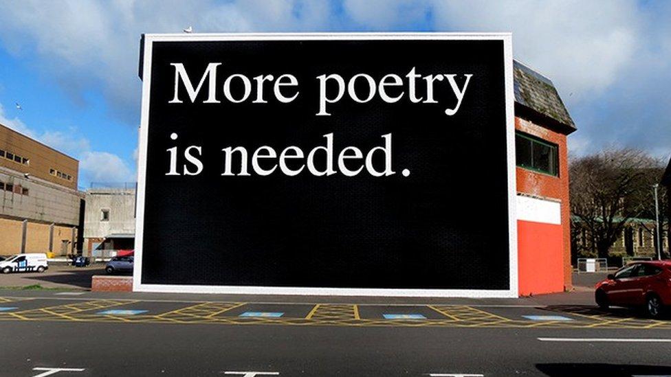 Jeremy Deller's billboard in Swansea, 2014