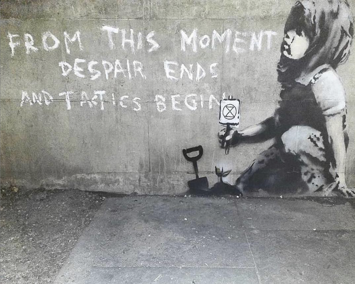 image: @streetart_official, banksy??? Marble Arch, London