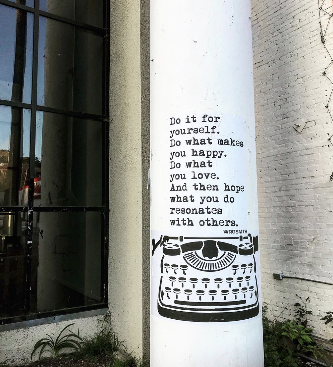artwork: 'what you do' by wrdsmth (@wrdsmth)