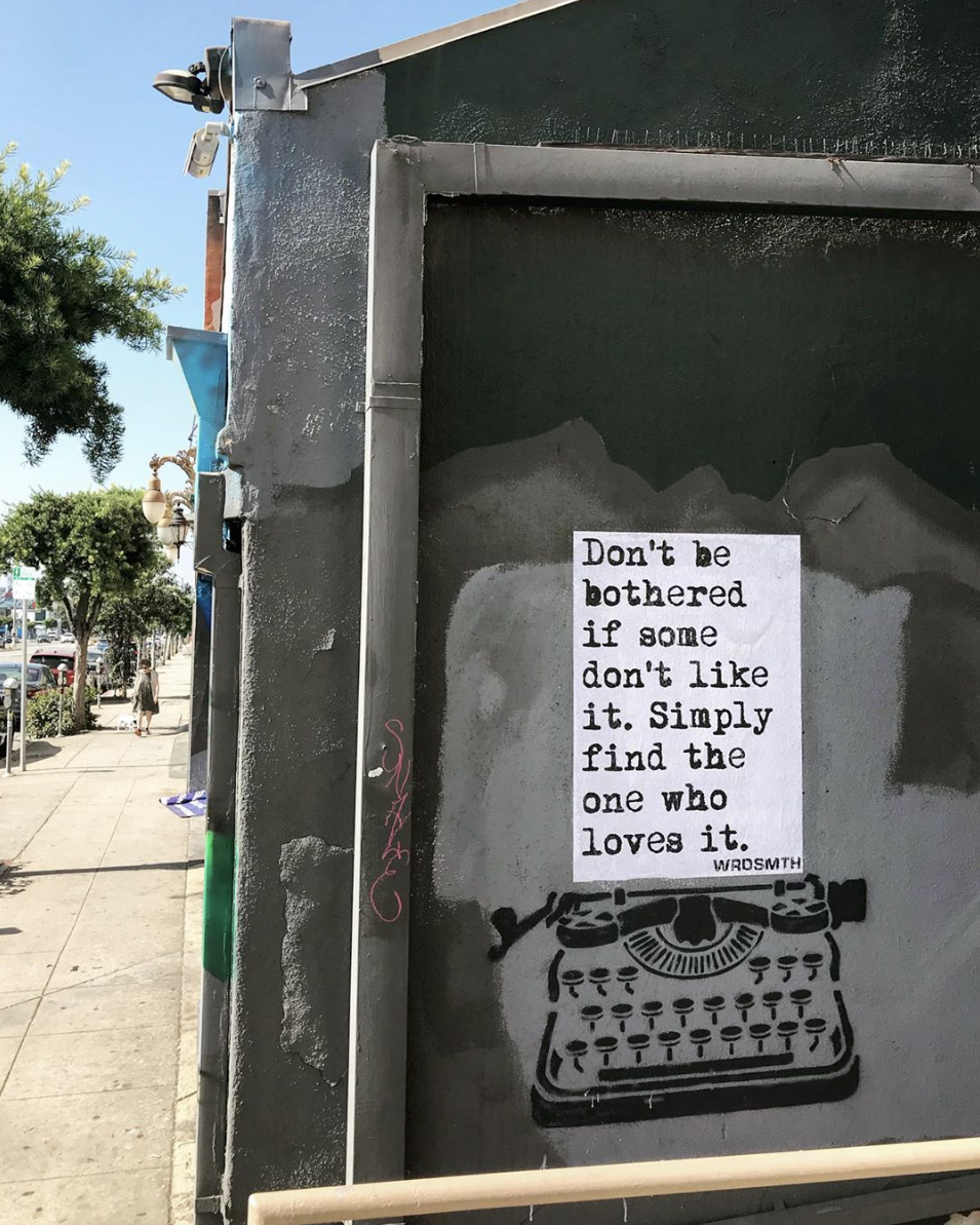 Artwork: by WRDSMTH, Hollywood, 2019