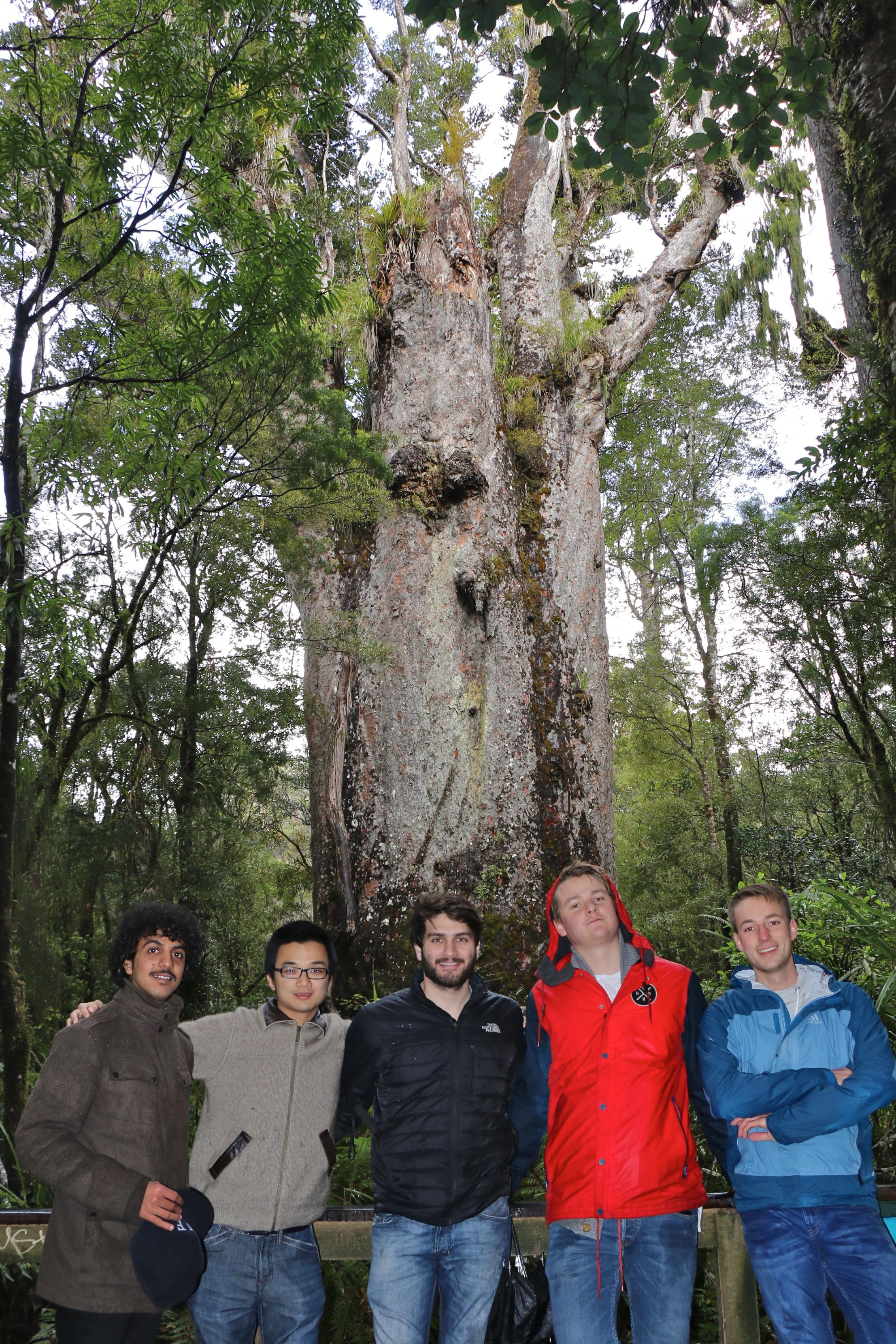 Father of the Forest (Salim, Rick, Fabio, Pieter und ich)