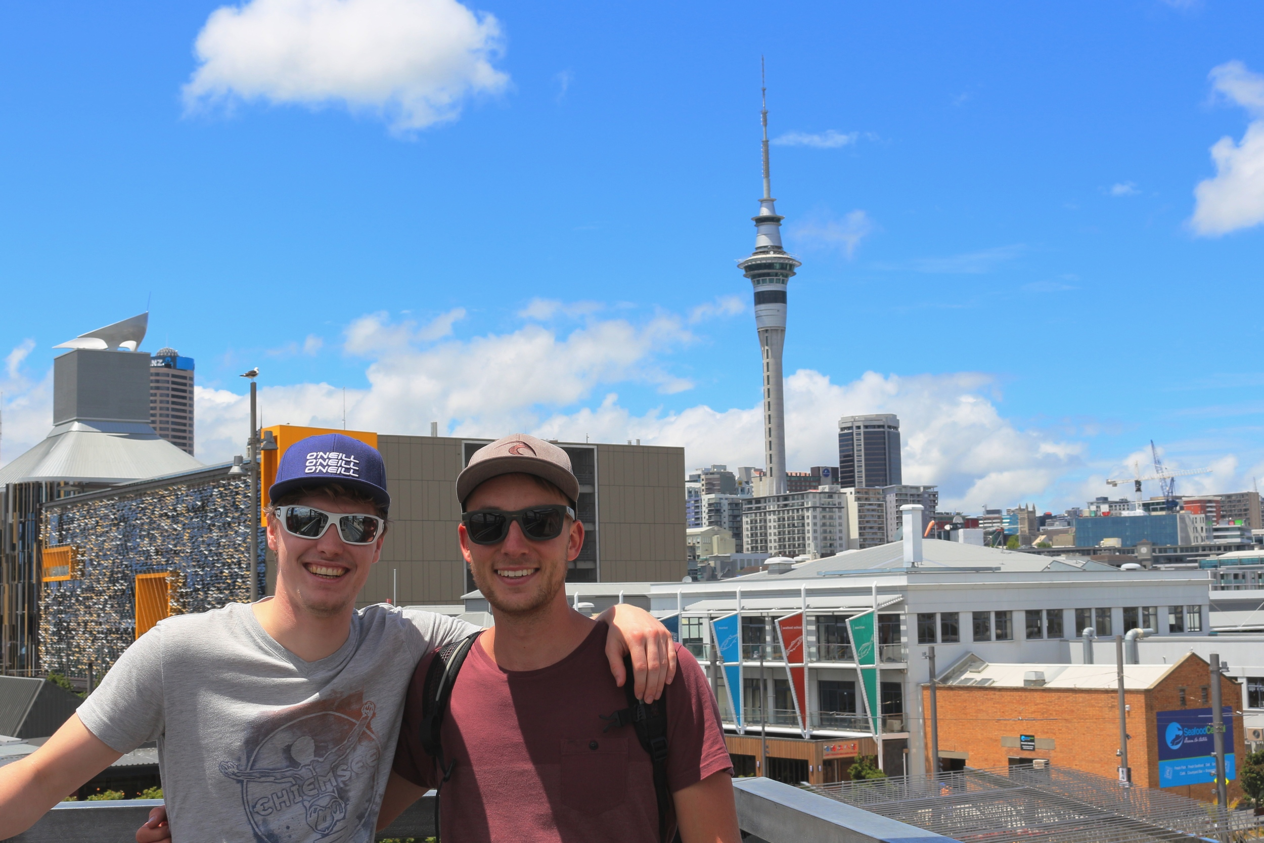 Helge and me in Auckland City