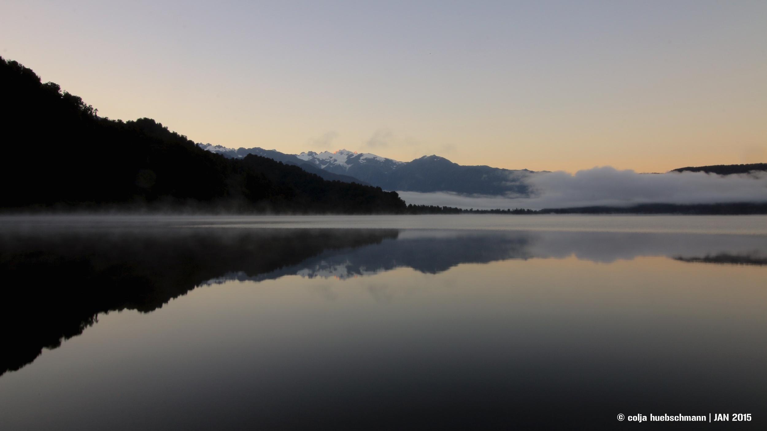 lake mapourika, west coast, glacier area