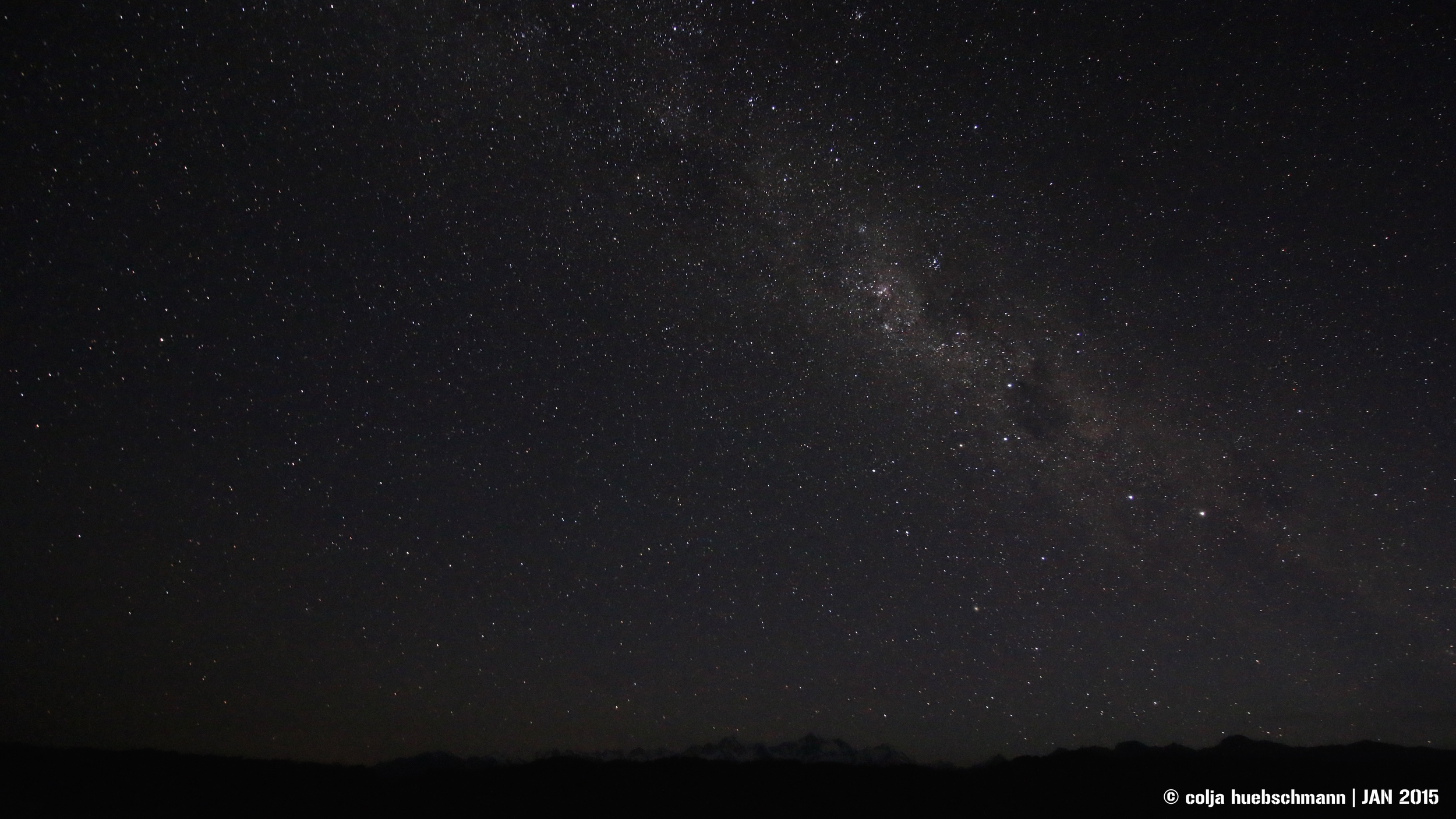 night sky over Mt Tasman and Mt Cook - view from Gillespies Beach