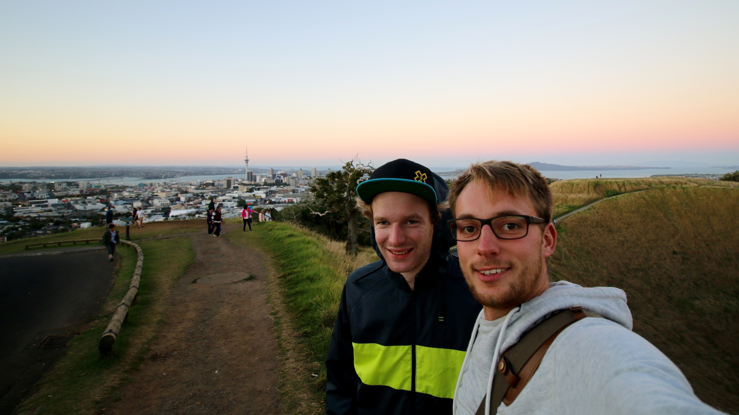 Crishi and Me on Mt Eden