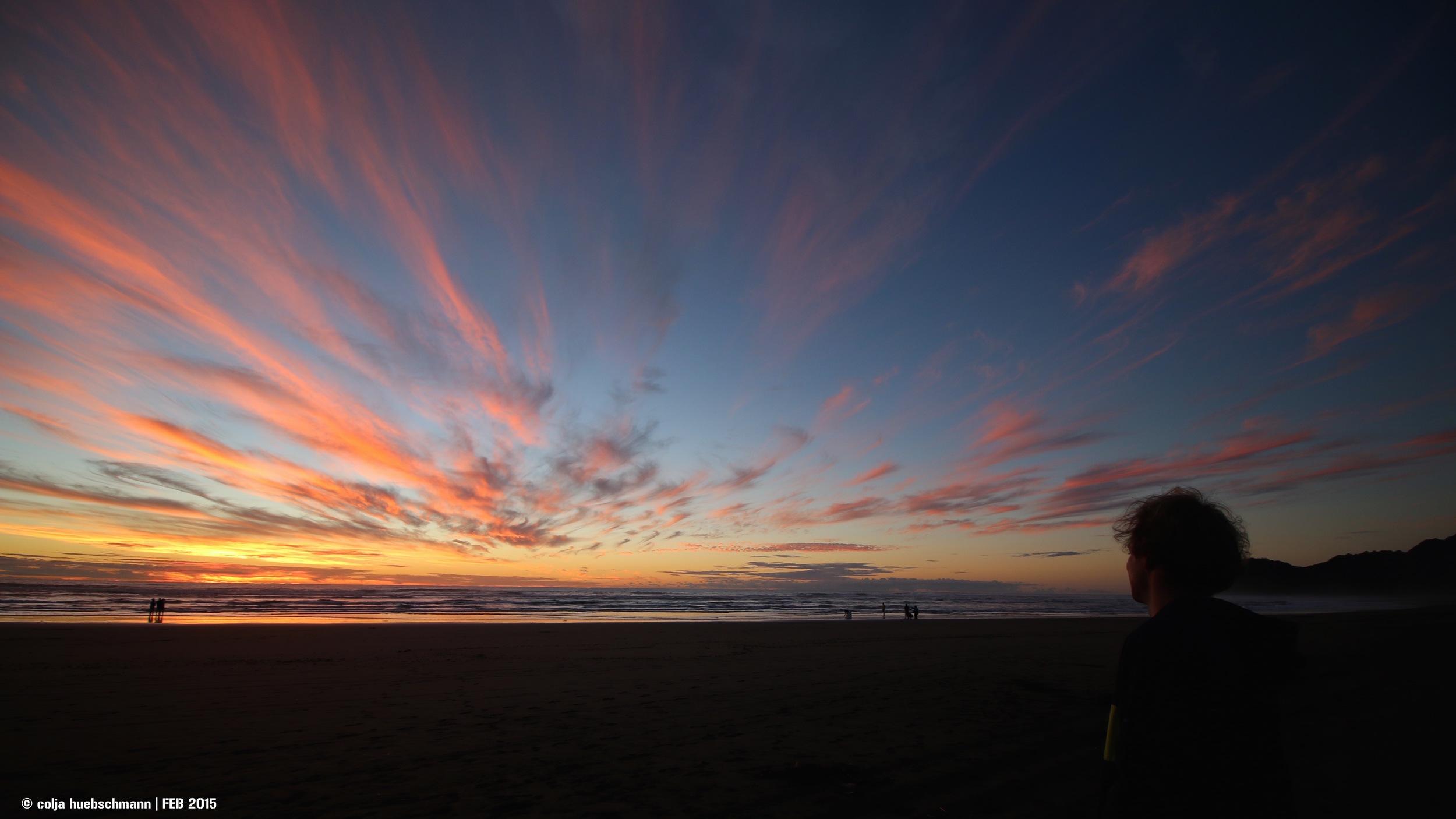 Sunset Piha Beach