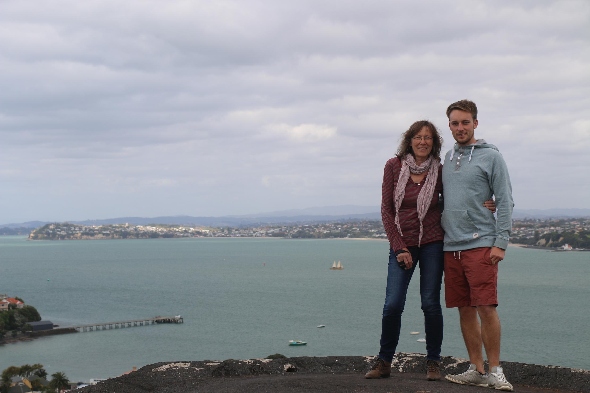 Mum and me at Mount Victoria, Devenport