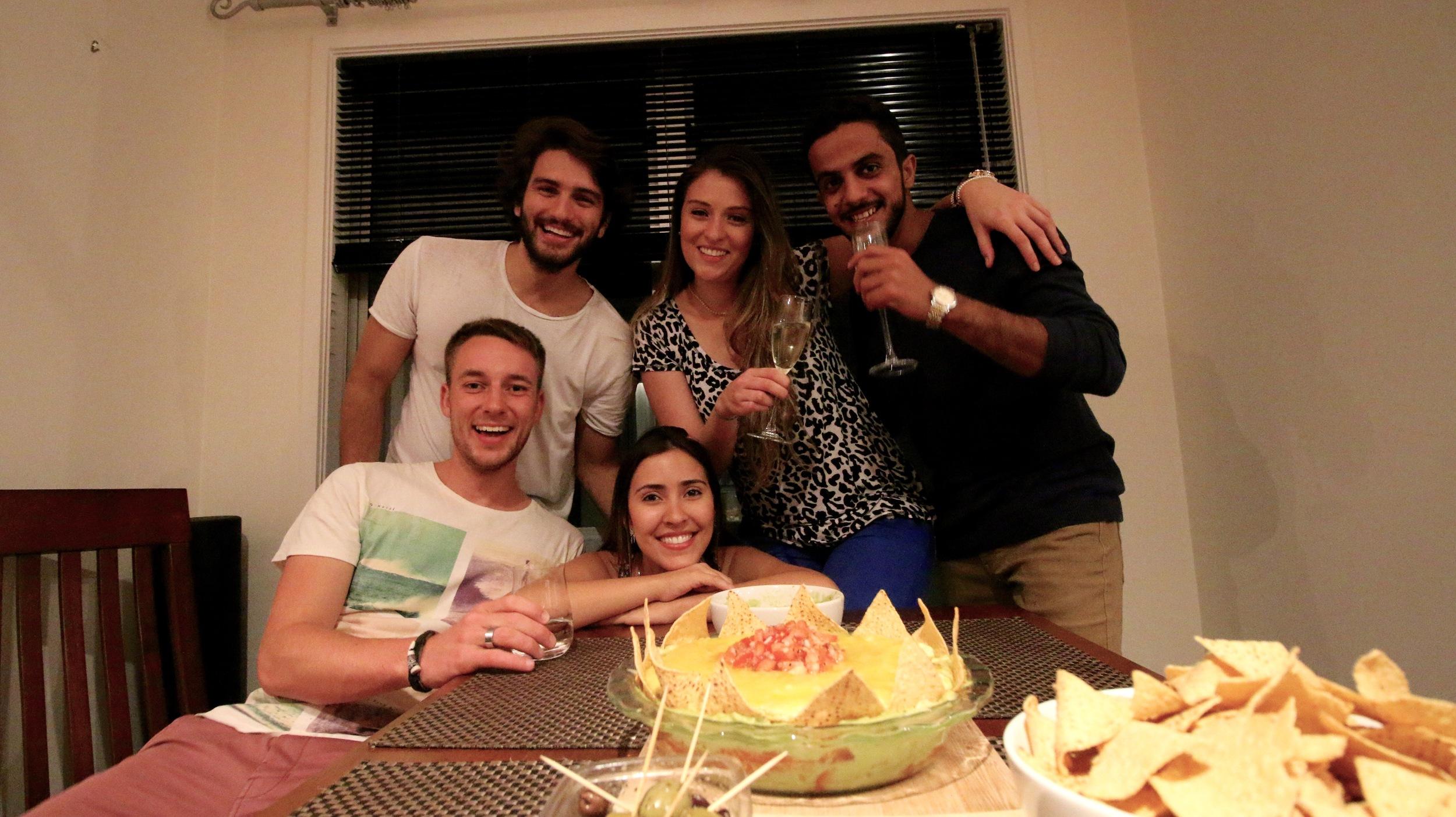 Fabio, Dani, Salim, Me and Ana