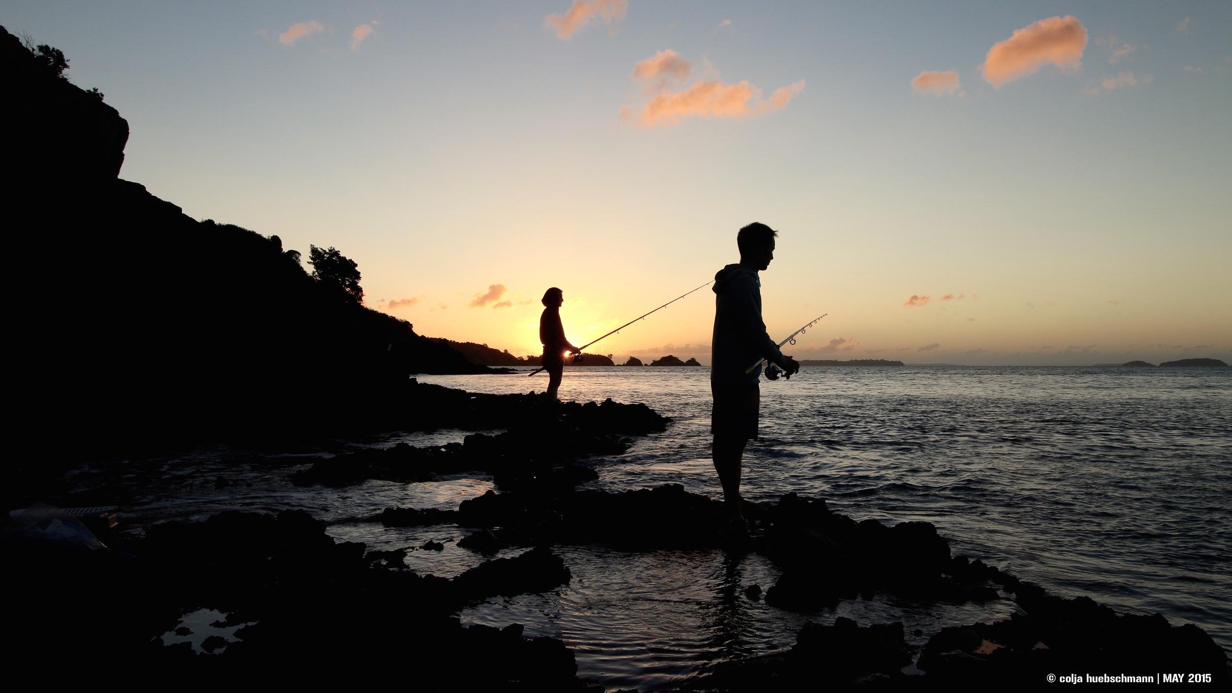 Fishing on Waiheke Island