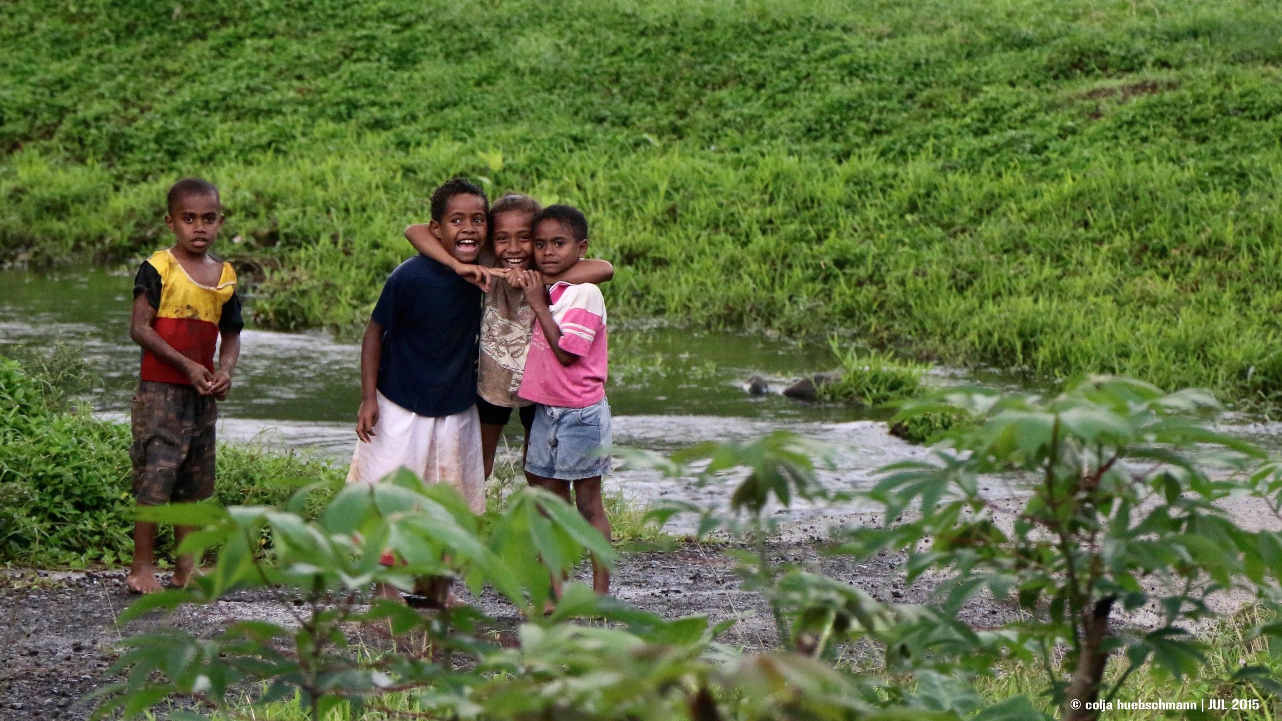children in Lovoni, ovalau island, fiji