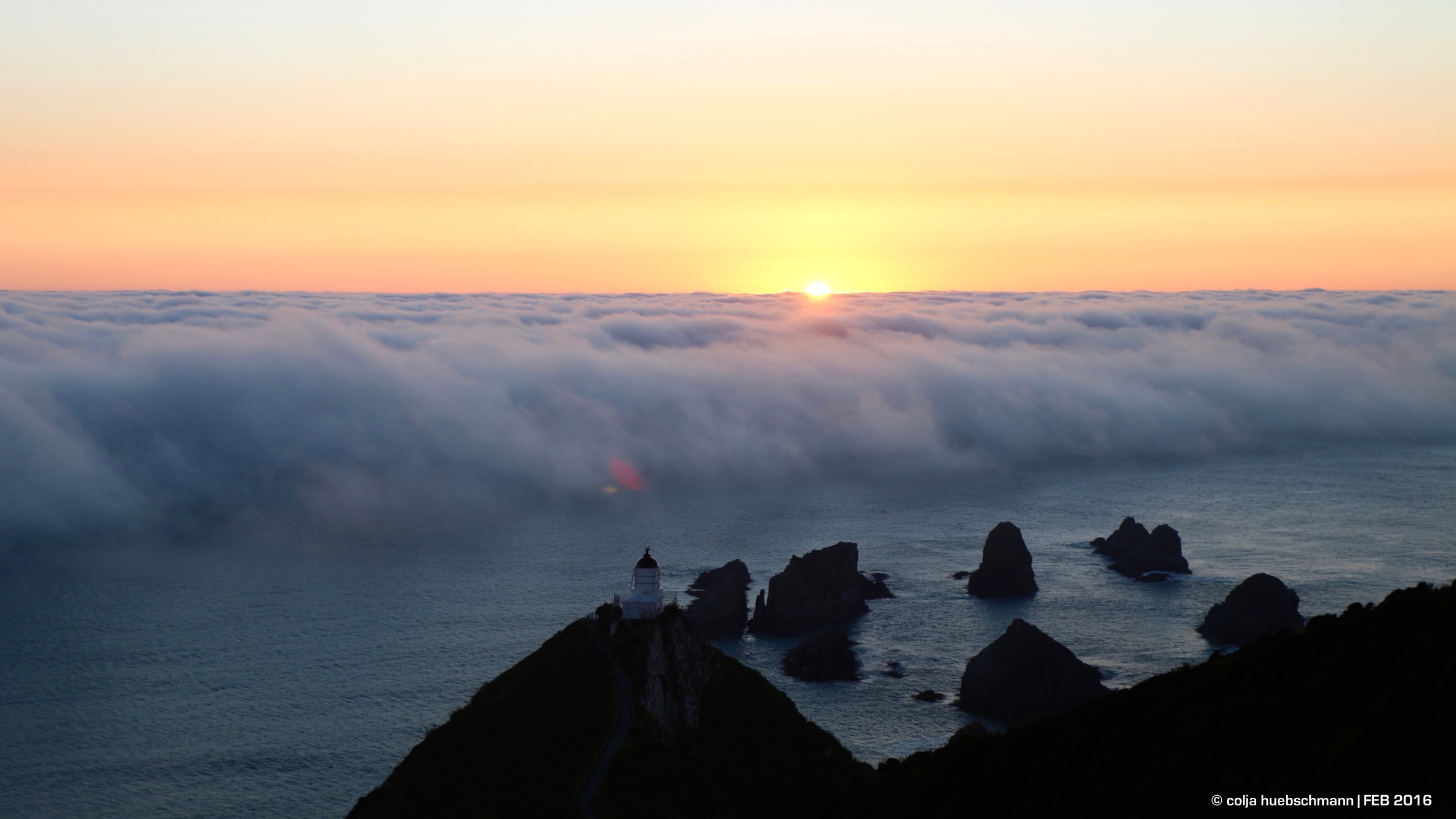 Sunrise at Nugget Point Light House