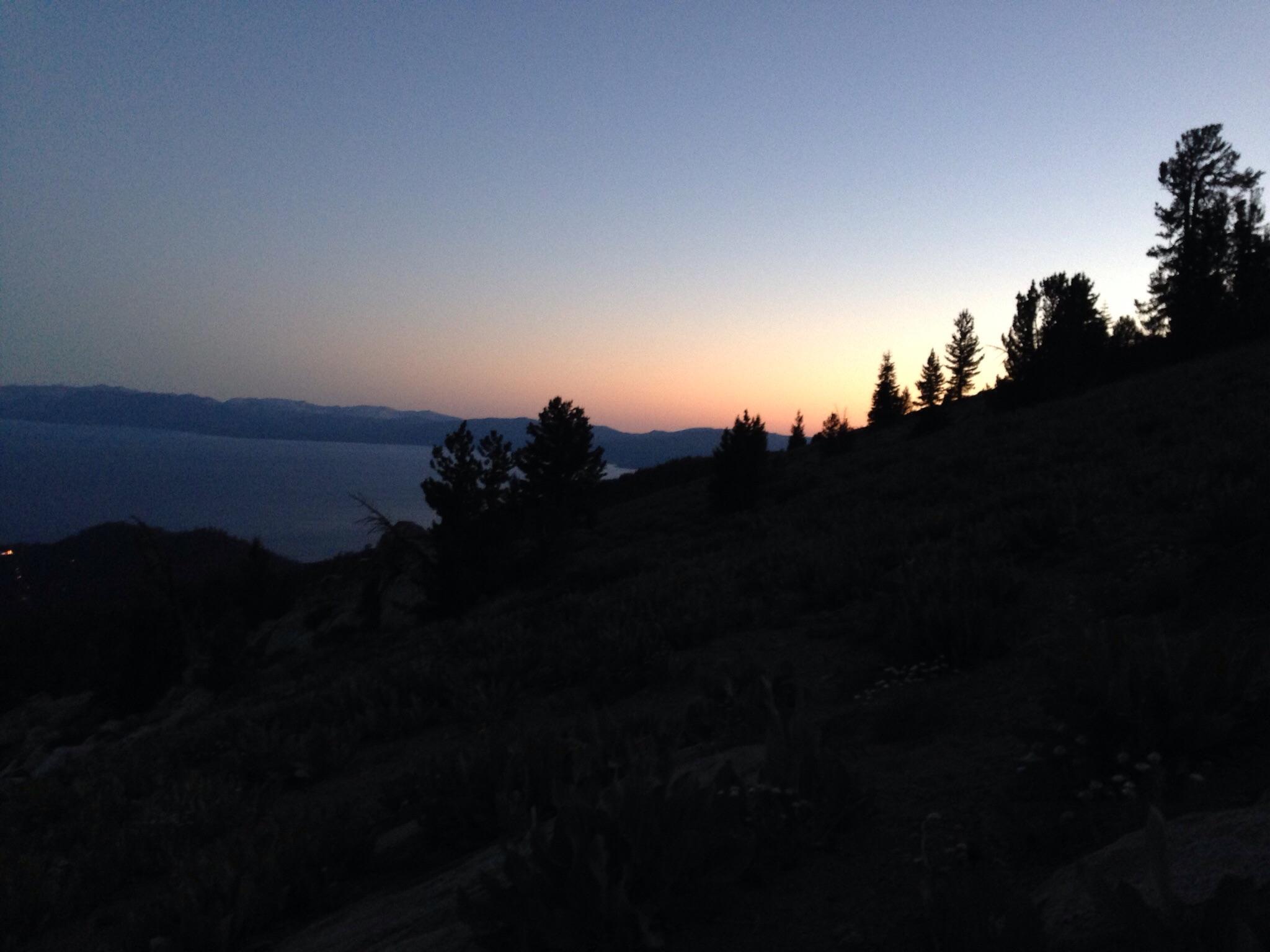 The last bit of sunset Saturday night