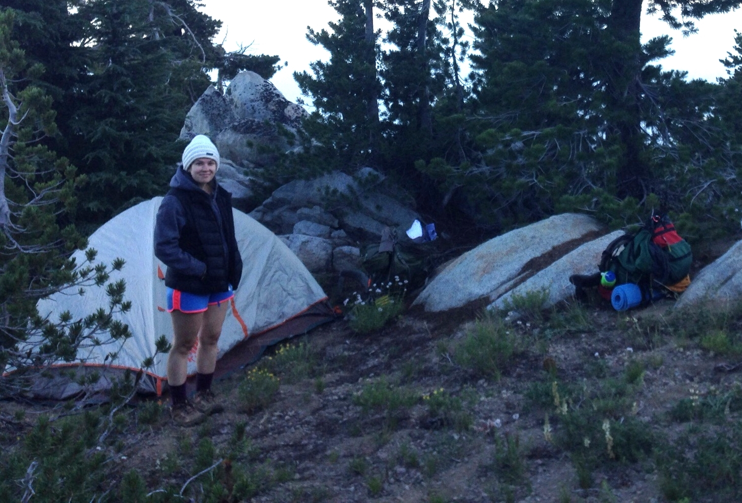 Our campsite for the night