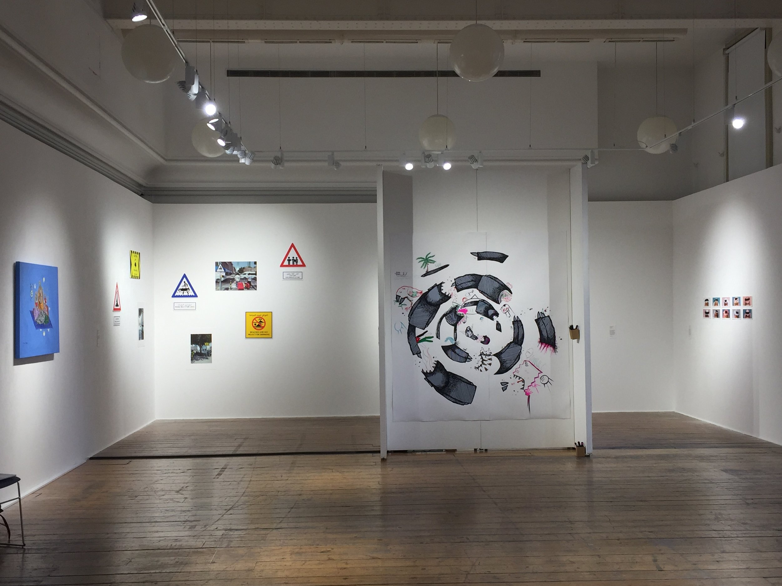 Exhibition was held in the International Projects Space at BCU School of Arts in Birmingham, UK
