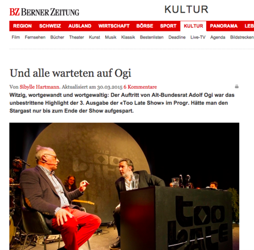 Berner Zeitung / 30. März 2015