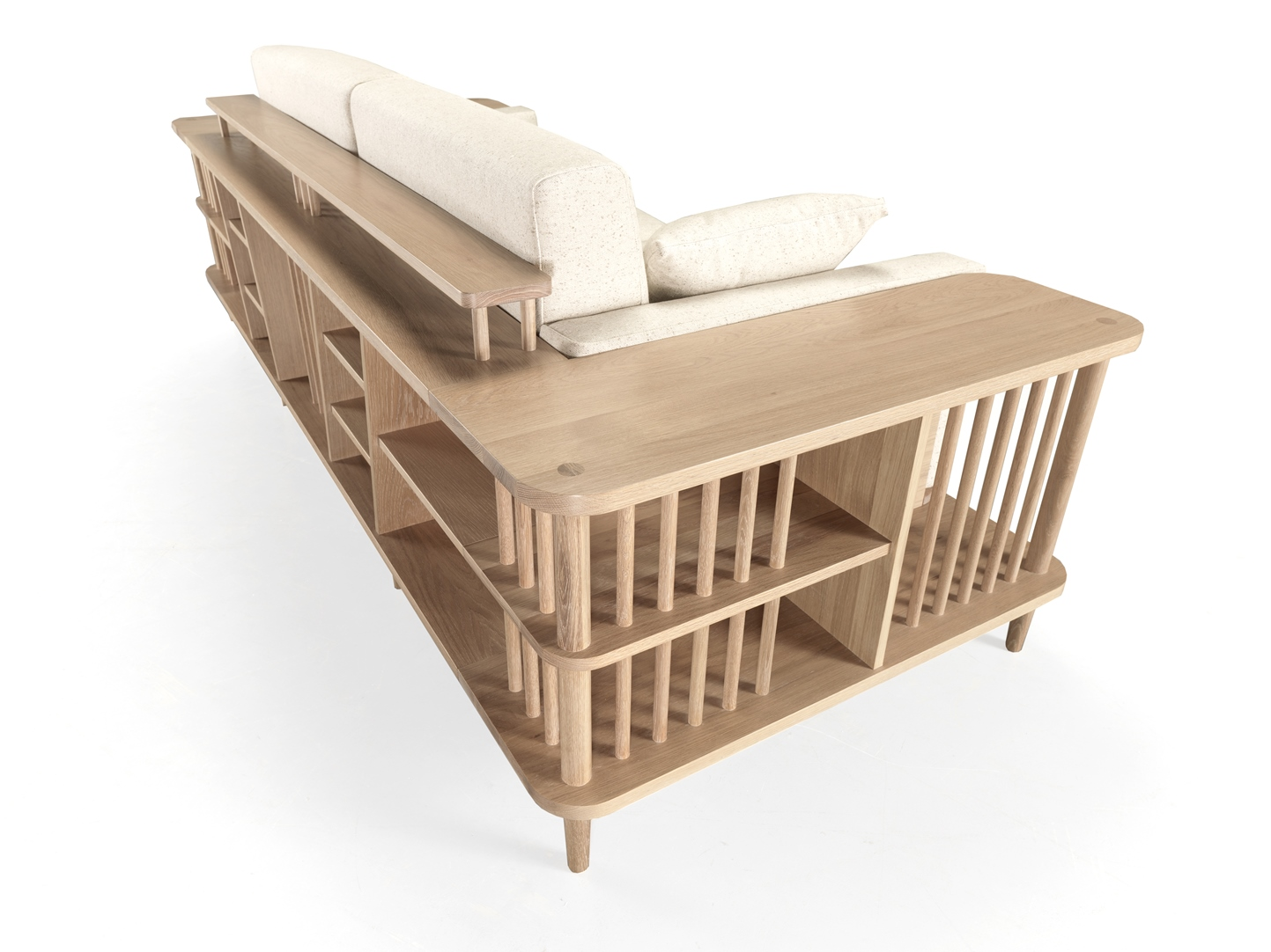 The impressive  SCAFFOLD  will be on display and showing that it c an be more than a simple seating space . Surprise yourself with this  multfunctional piece  and with the  quality of our woodworking .   Read more