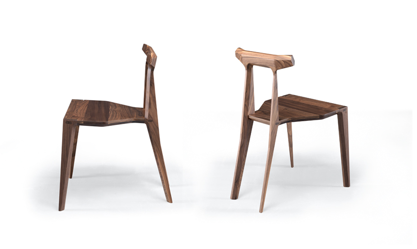 Orca  is solid wood all-purpose chair produced using the latest production technologies of shaped wooden furniture. The shaped structure of the back legs and backrest are sensually moulded into one.