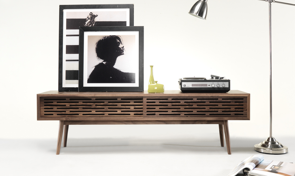 RADIO TV shelf   It's ideal to use as a TV sideboard, but convenient for many other storage needs as well.  RADIO  is a versatile eye catcher that will brighten up any living room.