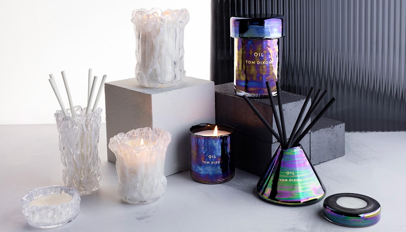 Oil & Quartz candle by  TOM DIXON