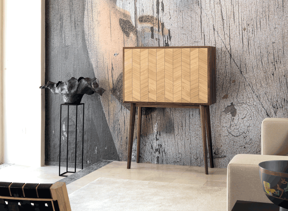 MISTER Sideboard/ desk   Designed for people and environments in constant change,  MISTER  stands out for its versatility and customization level. Its interior can be completely rearranged according to diferrent needs, allowing to be used as a bar, a desk or simply as sideboard.
